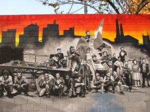 Murales antifascista del quartiere Niguarda, Milano, in via Ettore Majorana